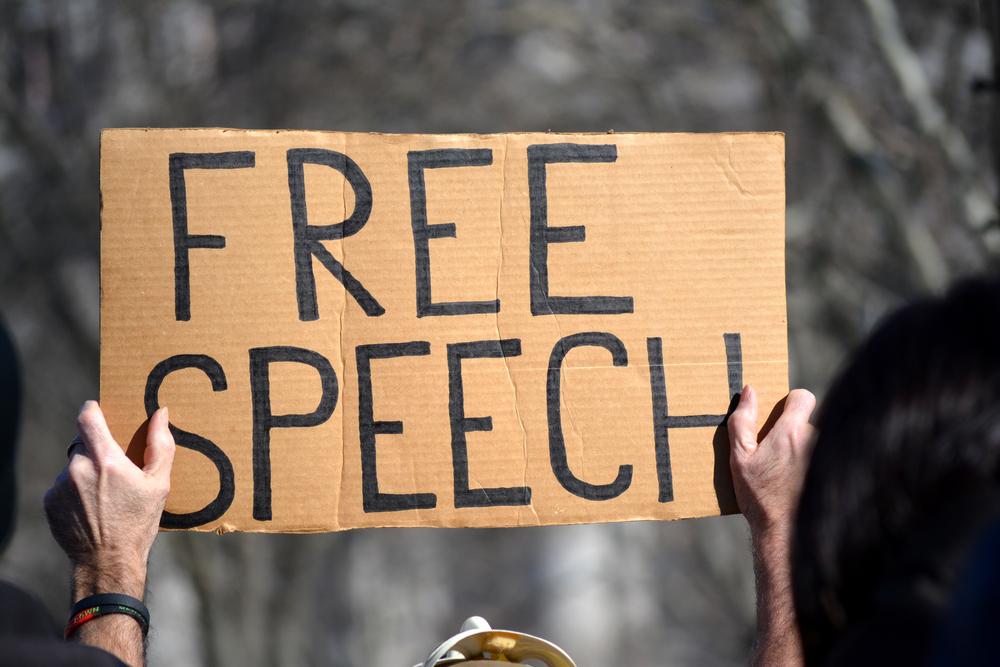 free speech sign